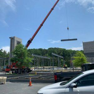 Hilton Garden Inn project! 170 tons of steel.